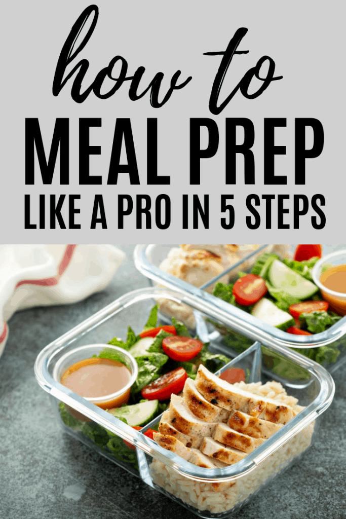 Reach your goals faster by learning how to meal prep with these 5 steps. Meal prep tips for beginner.
