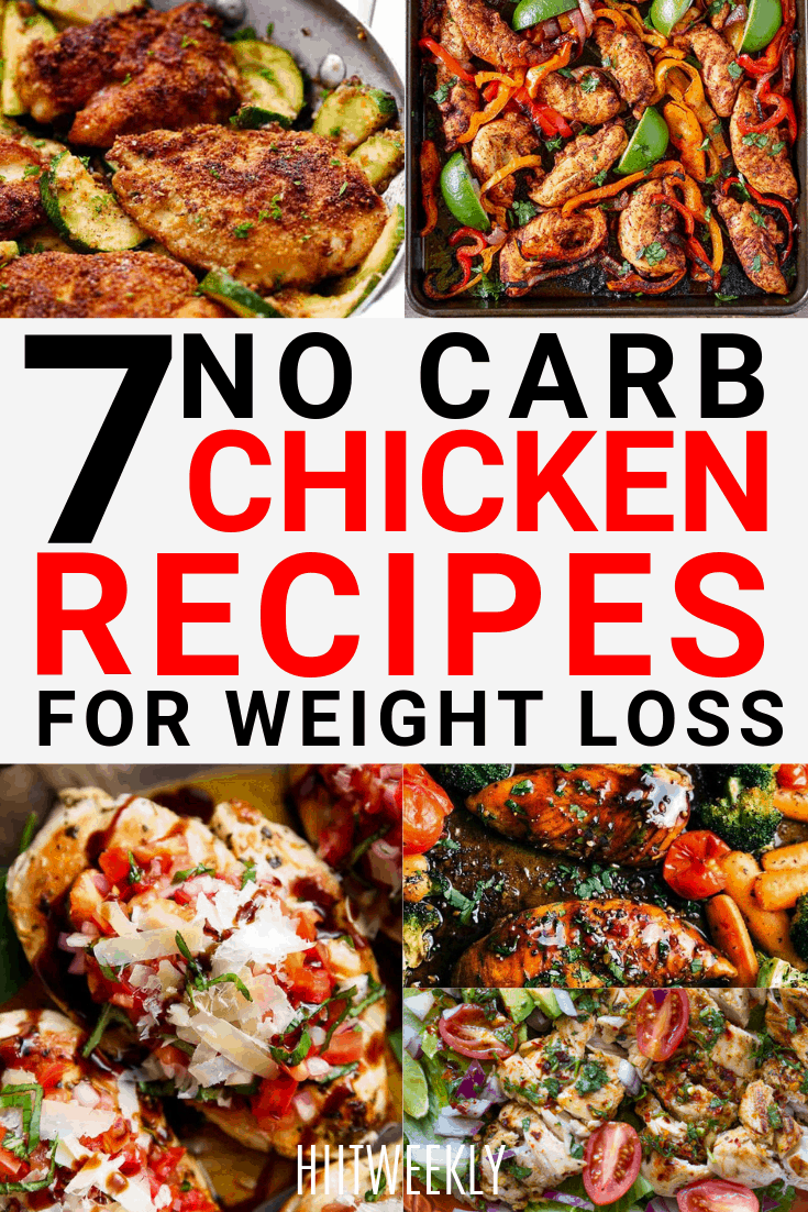 7 tasty low carb Chicken recipes for fast weight loss. Healthy Chicken recipes to lose weight.