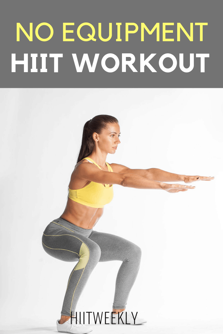 No Equipment Needed HIIT Workout You Can Do At Home. Home HIIT Workout For Women. Body Weight HIIT Workouts At Home.