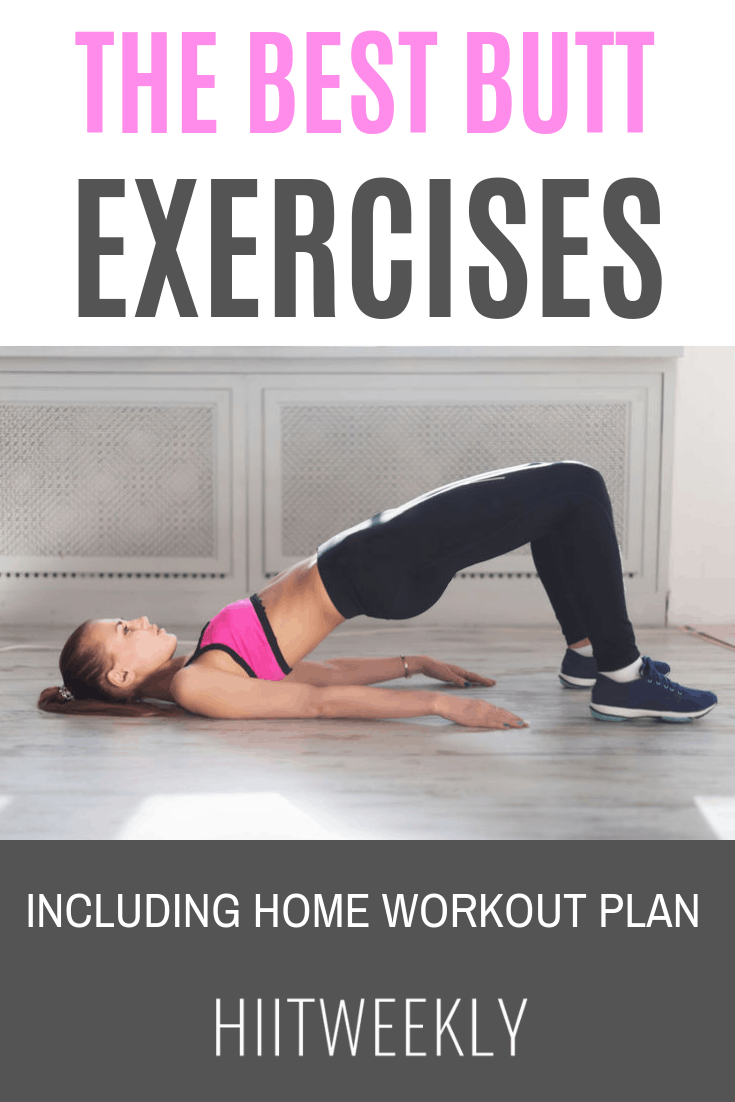 The best butt and glute exercises for women who want to tone shape and lift their bum. Glute exercises.