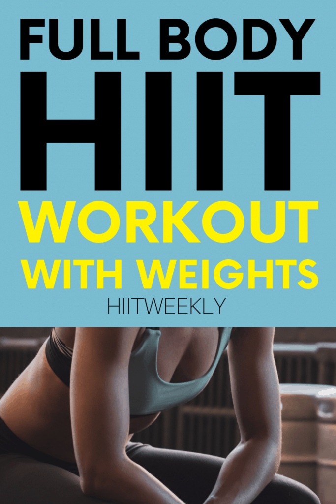 Get hot and sweaty with this at home full body workout with weights that mixes kettlebells, dumbbells and bodyweight exercises for a hard hitting workout. Do this workout with weights to lose belly fat fast.