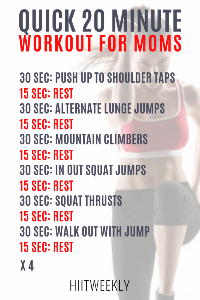 The ultimate home HIIT Workout Circuit for moms who want to get fit and lose belly fat fast. Mom workout at home cardio hiit.