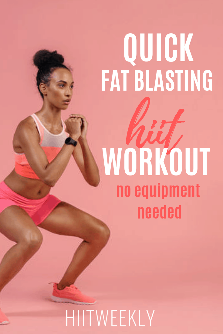 We love this fat burning HIIT workout for women. No equipment needed workout at home for women to lose weight and get super fit in no time at all.