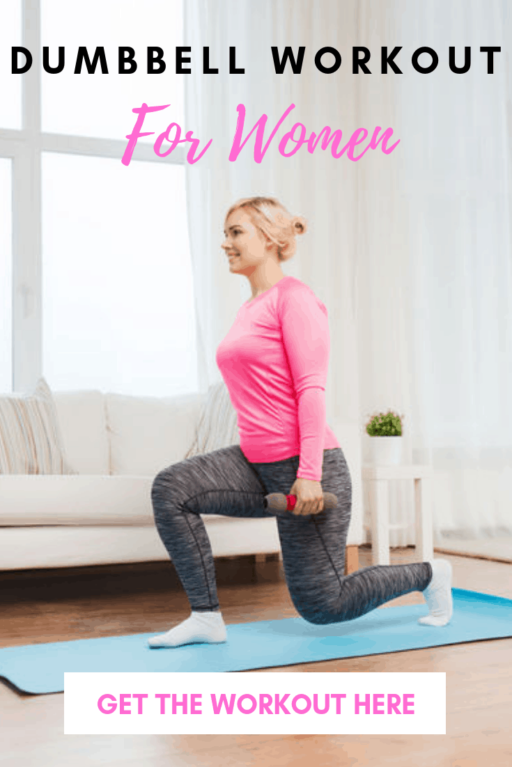 Melt fat and tone muscle with this dumbbell workout for women to lose weight. Get ready for another awesome workout with weights.