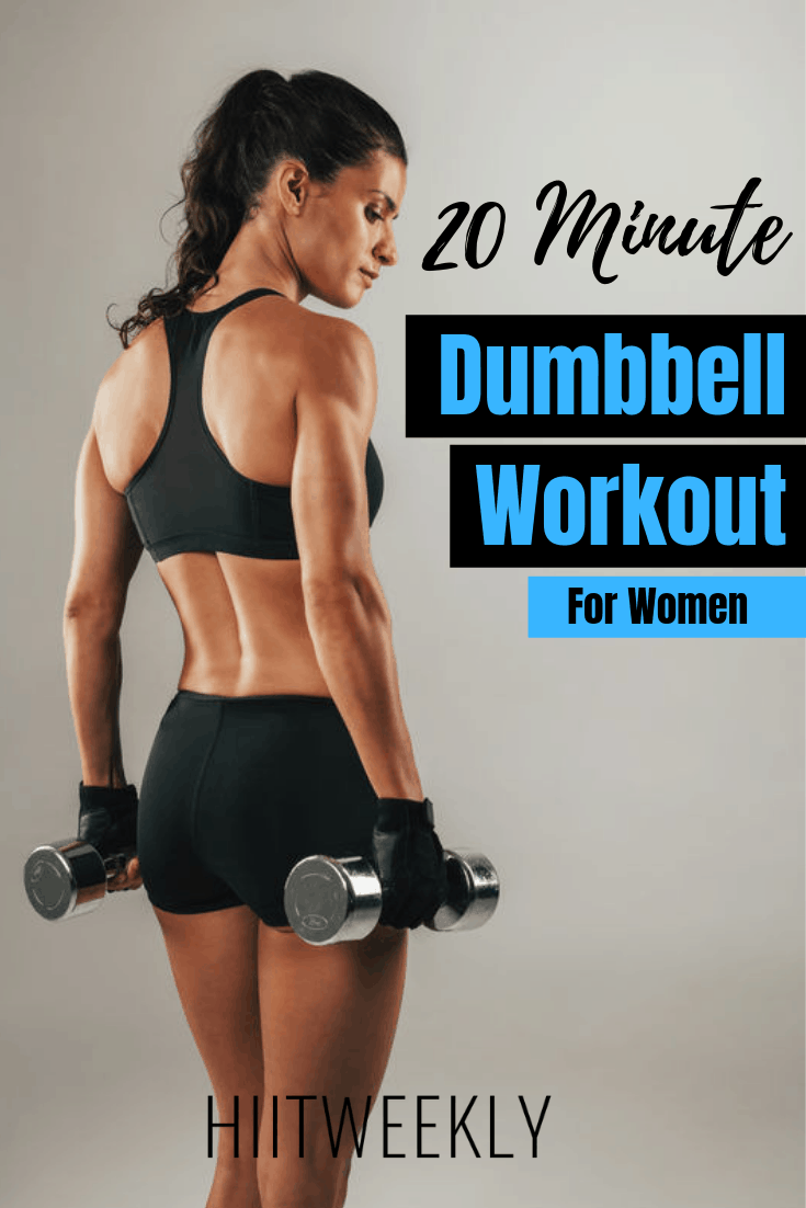 Melt fat and tone muscle with this dumbbell workout for women to lose weight. Another awesome workout with weights. Dumbbell Workout Weight Loss.