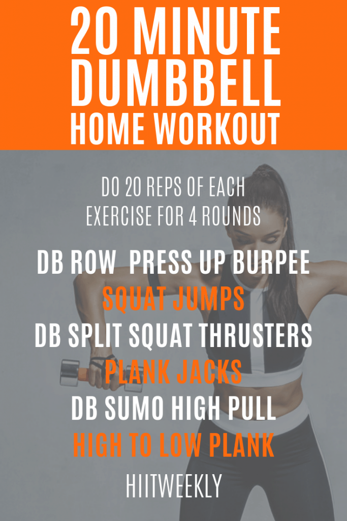 One of our favorite workout plans with dumbbells to lose weight fast that can be done at home anytime. Try this workout today and let us know how you get on!