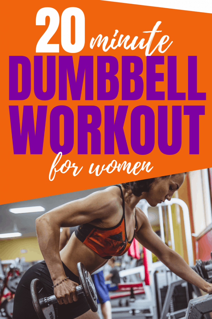 Do this at home dumbbell workout designed just for women. This workout with weights will work your entire body for a high energy workout that will burn plenty of calories.