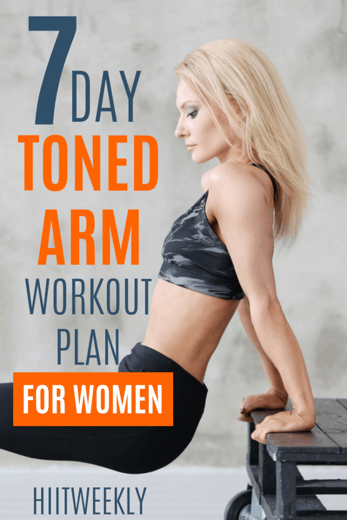 say bye bye to flabby bingo wings and hello to sexy slim toned arms with our 7 day arm workout plan for women that yu can do at home or at the gym. Repeat this arm workout plan for the next 6 weeks for amazing results.