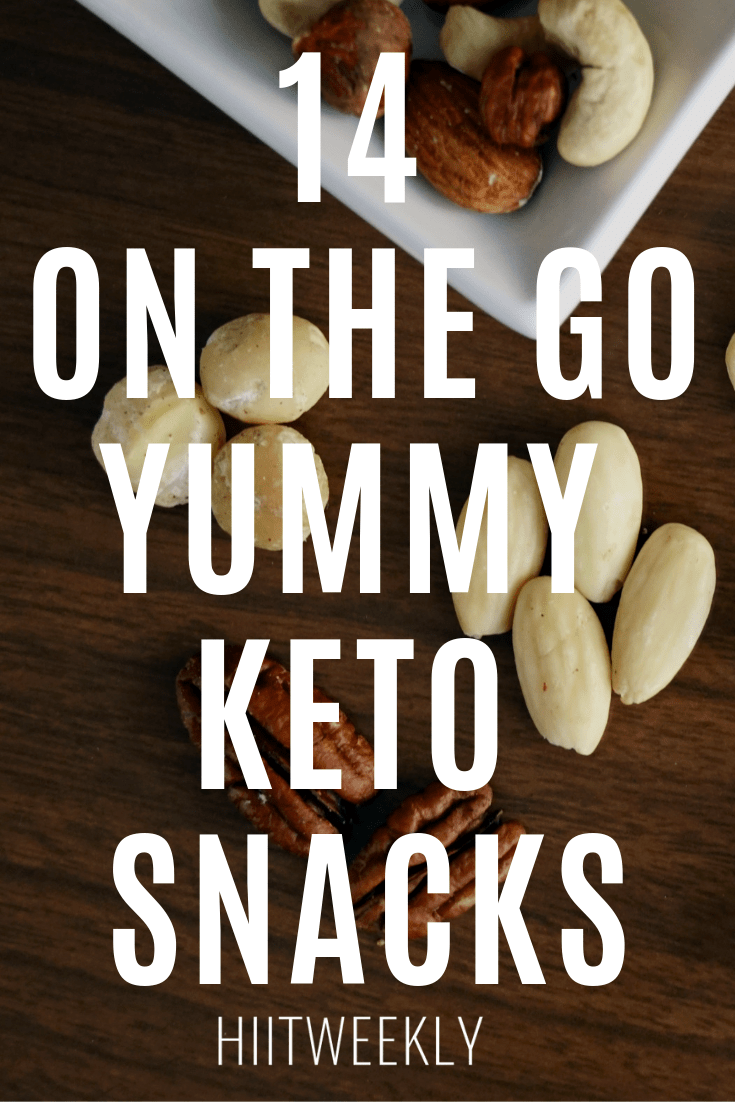 14 healthy on the go high protein snacks for healthy weight loss. Keto and clean eating snacks to make your diet easier to follow.