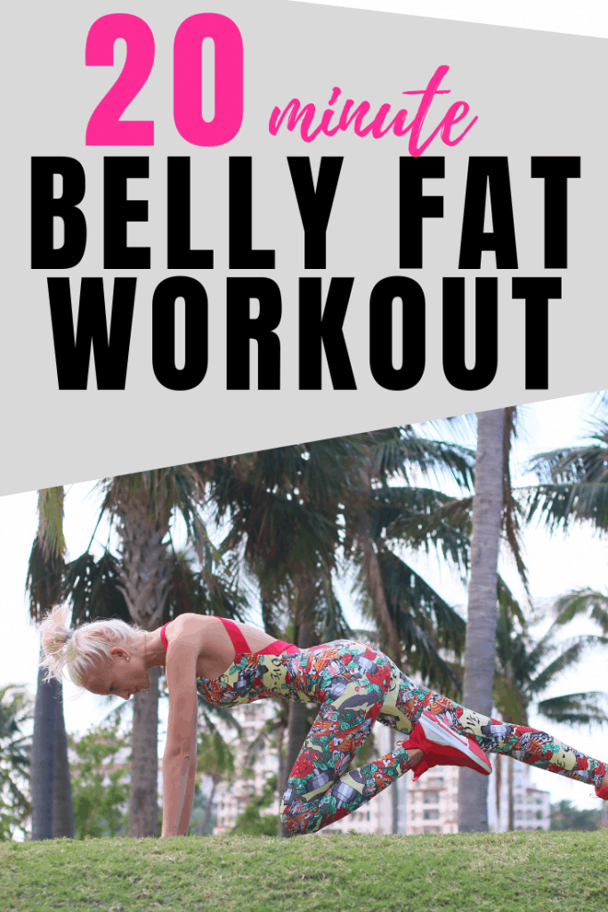 This quick 20 minute home workout will target your muffin top and belly fat for a sexy and toned looking body in no time.