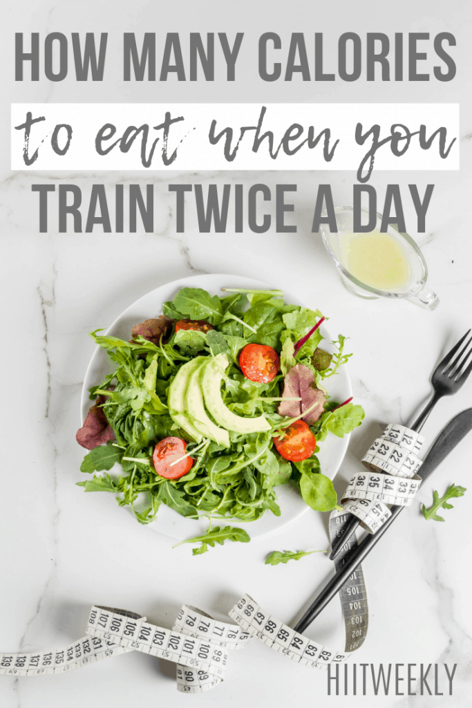 When you workout more than once a day you create a larger than normal calorie deficit. Here you can work out more accurately just how many calories you need to eat when you train twice a day