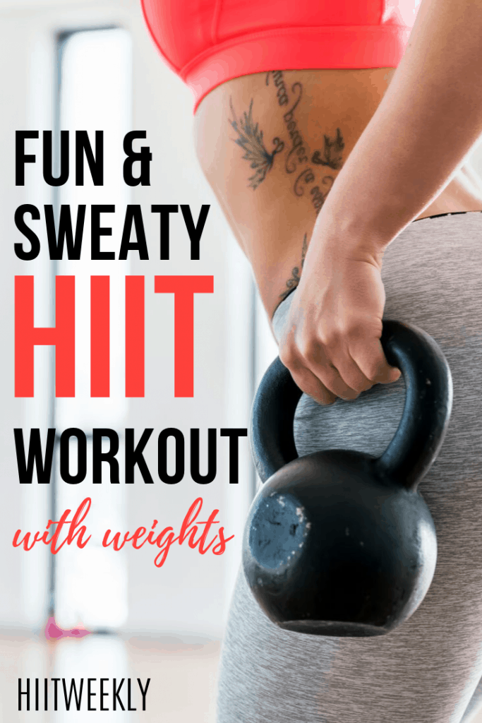 You need to try this fun HIT workout with weights. Its fast and enjoyable making it the perfect workout to keep you motivated to get fit and lose weight.