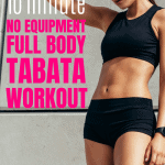 Burn fat and get fit with this full body tabata workout that you can do at home or the gym with no equipment at all. #tabataworkout #tabata