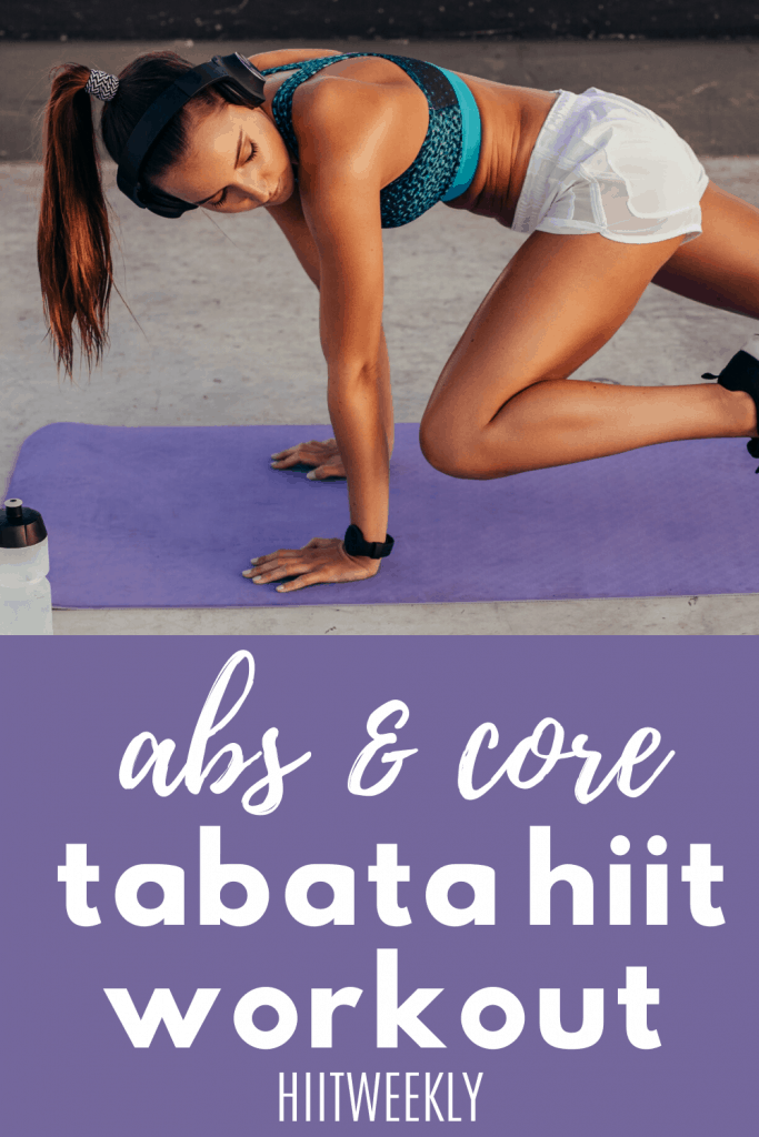 Sculpt tight abs while trimming belly fat with this Tabata workout for your abs and core muscles. #tabataabs