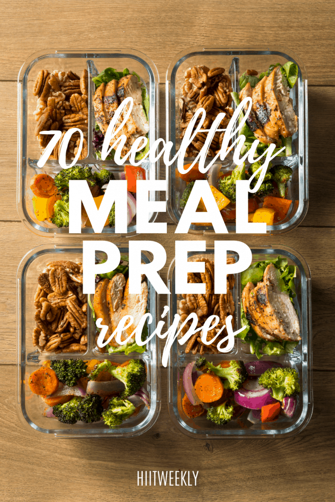 You need to check out these 70 plus healthy meal prep recipes. They are so tasty you'll want more than one serving.