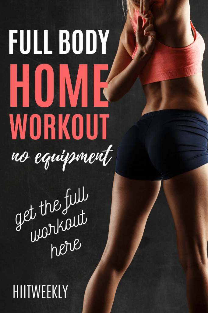 Get ready for another killer no equipmet home workout routine that promises to make you sweat! Click to get the full workout routine. Do it at home or on the road. #noequipmentworkout #hiit
