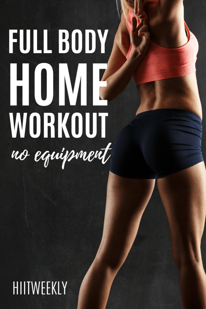 This home workout uses no equipment and will work your full body. Try this no equipment full body workout today for fast results.