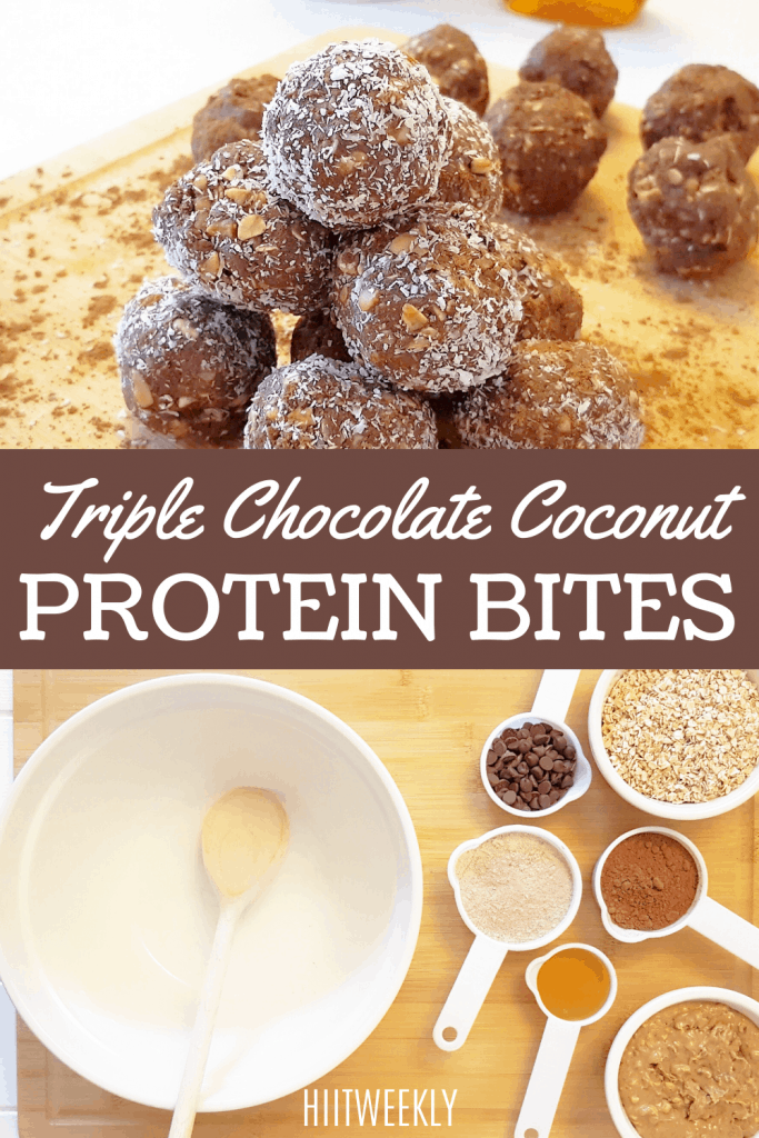 Try these yummy protein packed chocolate energy bites. These triple chocolate protein bites are no bake and make for a perfect high protein post workout treat.