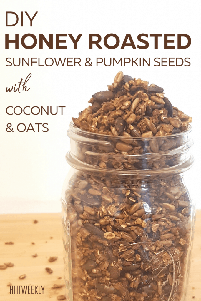 honey roasted sunflower and pumpkin seed recipe makes the ideal breakfast topper or healthy high protein snack.