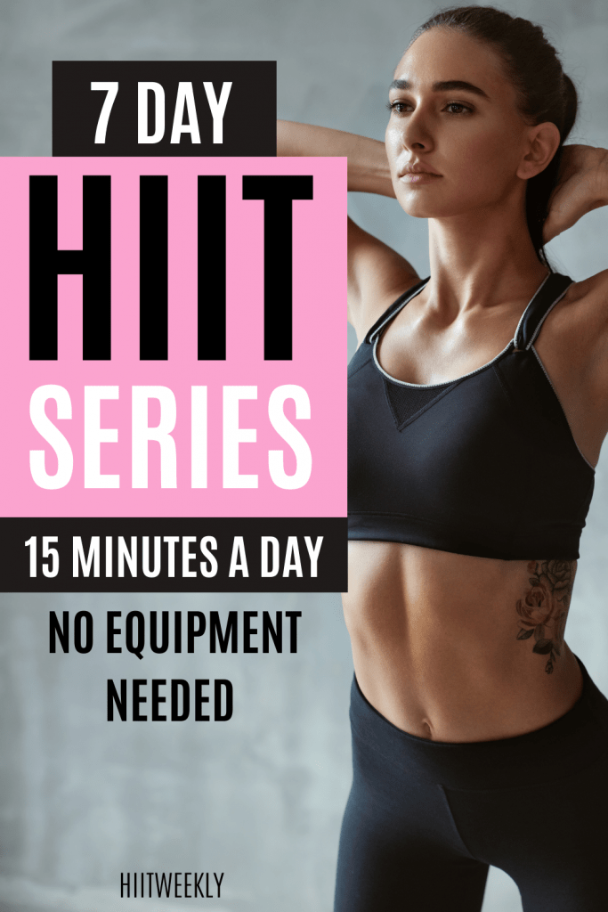 Start your 7 day workout challenge with our 15-minute at home HIIT workout challenge where we send you a new 15 minute HIIT workout each day for 7 days starting with this one here. NO EQUIPMENT NEEDED.
