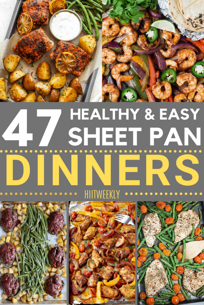 These are some of the best sheet pan recipes that are all super healthy, simple to make and tasty. Sheet pan recipes.