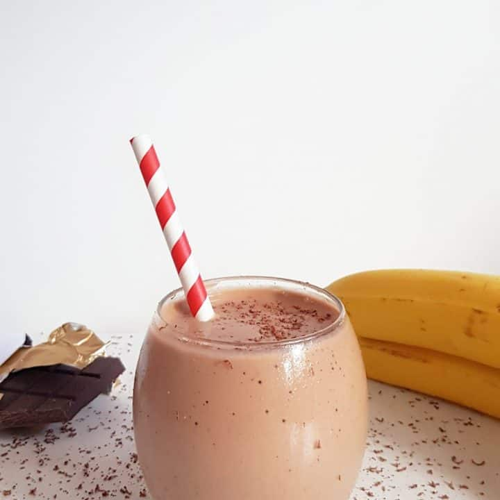 This Chocolate protein smoothie recipe is so good it almost tastes unhealthy. Don'y take our word for it. Make it.