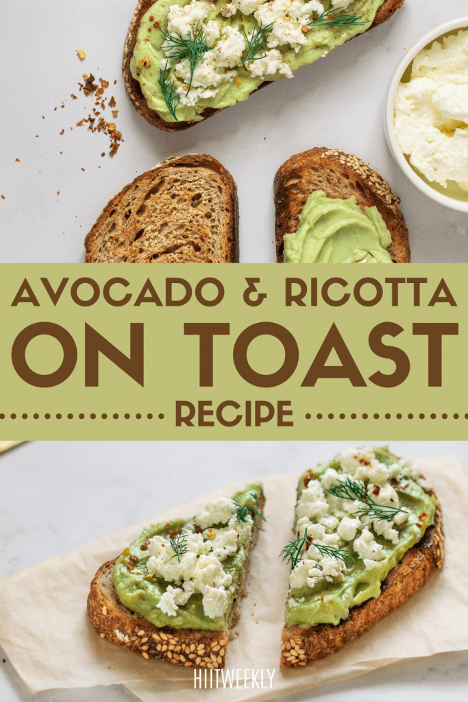 This healthy Avocado and ricotta on sourdough recipe is the best and it's also high in protein. Avo on toast is easy to make, just follow the recipe here.