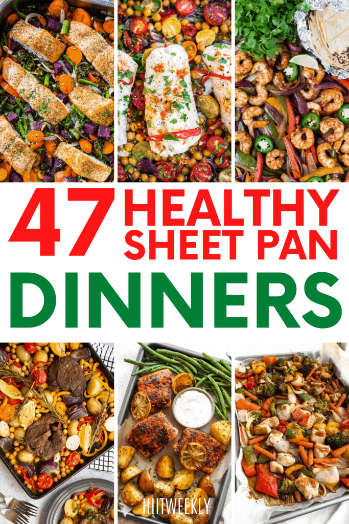 Get your healthy dinners sorted and preppped for the entire month with these healthy sheet pan meals. Here are enough healthy sheet pan dinners to keep you going for a long time to come.