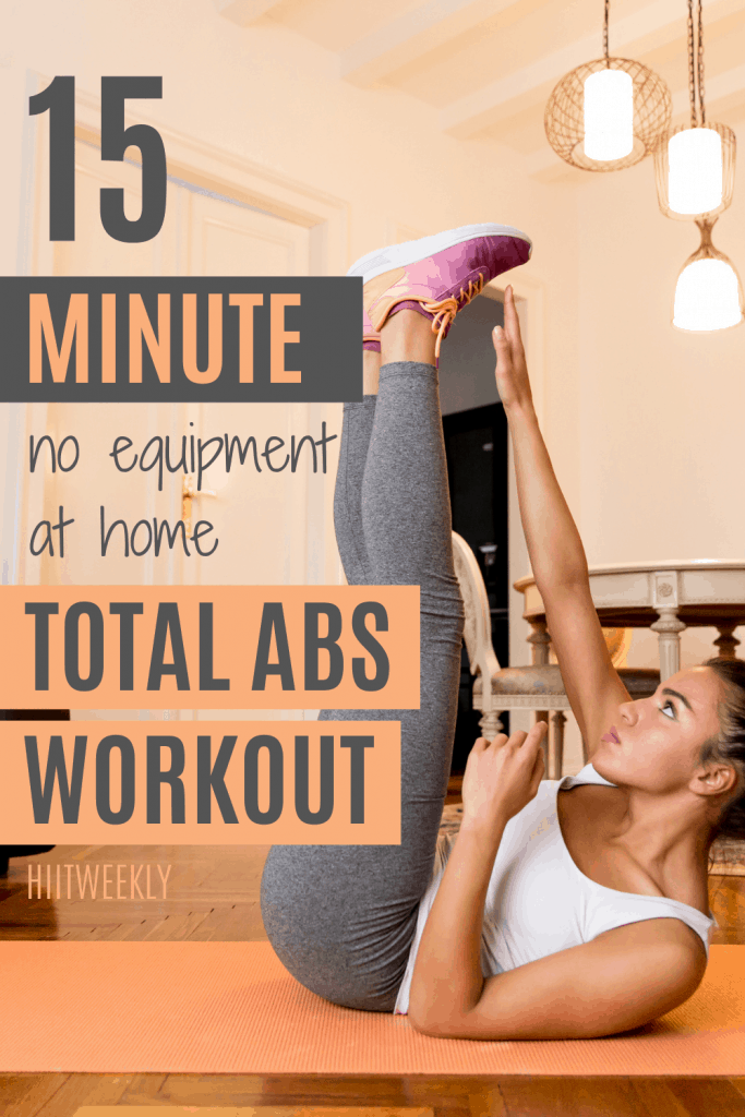 Work your entire abs and core with this 15-minute at home toatl abs workout plan which uses no equipment at all, so you can really do it anywhere. Do this ab workout at home 4 days a week and you'll soon see those 11 lines.