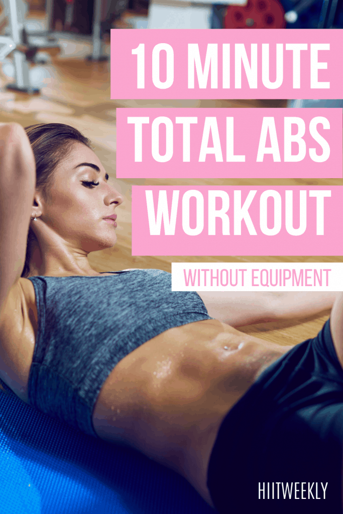 Get tighter toned abs with this quick at-home abs workout plan for women. You won't need equipment as this is a no-equipment abs workout plan.