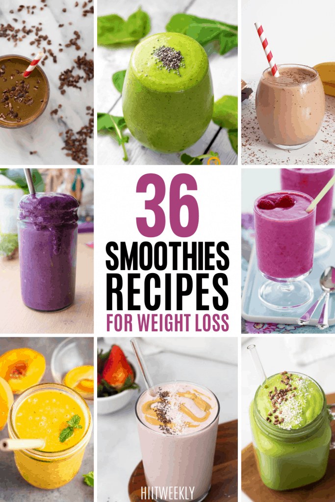 36 healthy smoothie recipes for weight loss that also taste amazing. These healthy fat loss smoothies will keep you feeling full whilst being super nutritious.