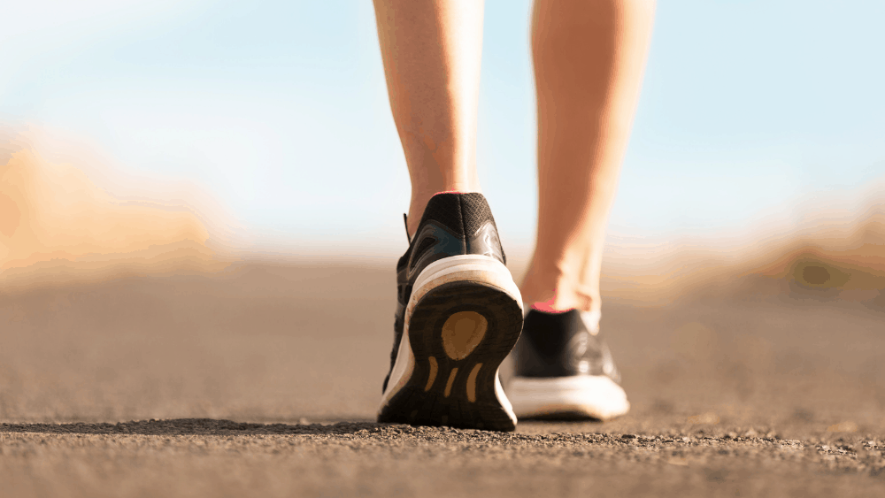 Walk 60 minutes a day to lose belly fat fast.