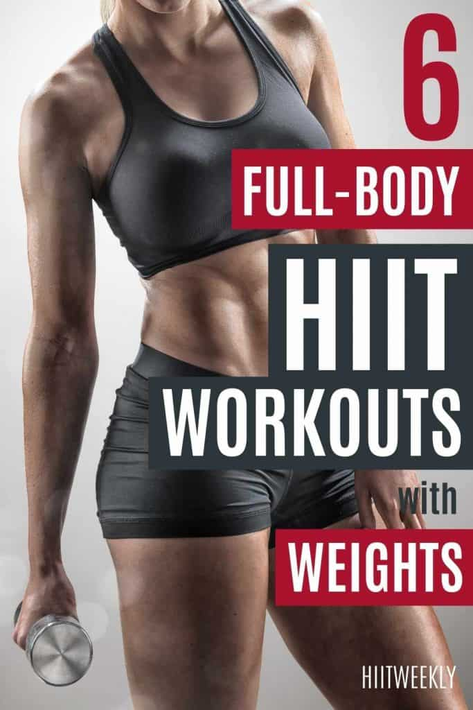 Get into shape fast with these 6 HIIt workouts with weights. HIIT is one of the best ways to lose wieght and get fit quick, here are our favorite HIIT workouts that use dumbbells or kettlebells.