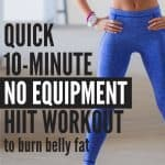 A quick 10 minute cardio HIIT workout to help you burn tummy fat and get fit quick.
