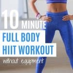 Snap back into shape by doing this 10 minute no equipment home workout plan.