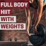 Get the weights out, it's time for a weighted HIIT workout. This full body high intensity interval circuit will make you feel amazing and it only lasts 20 minutes!